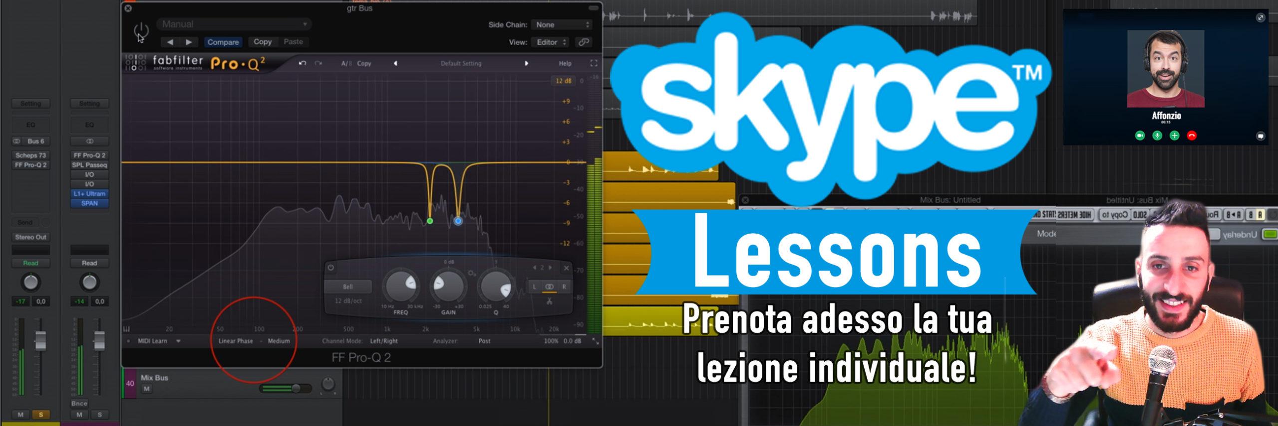 lezioni skype audio